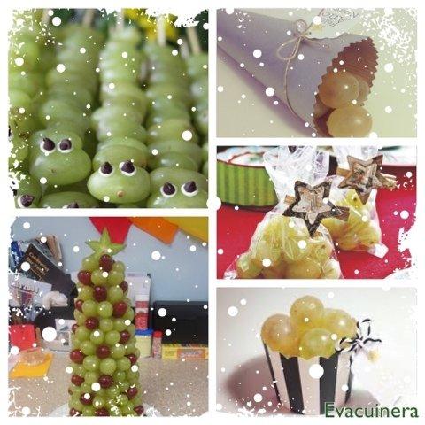 como servir las uvas de fin de año