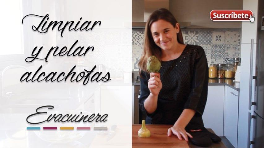 limpiar alcachofas