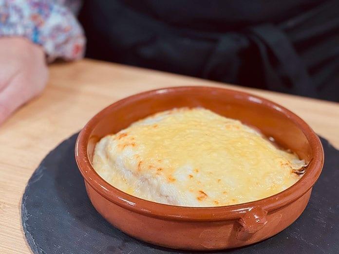 lasaña jamon queso